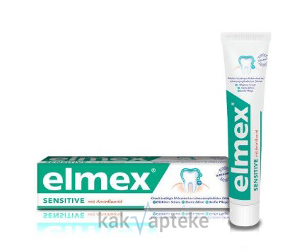 Elmex Sensetive Plus Colgate паста зубная (Элмекс Сенситив Плюс) 75 мл